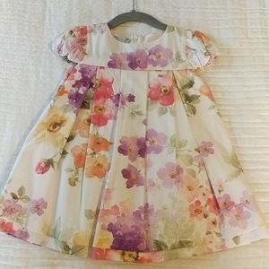 NWT baby Graziella floral dress and pink sweater